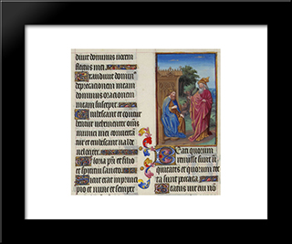 David And Nathan: Modern Black Framed Art Print by Limbourg brothers