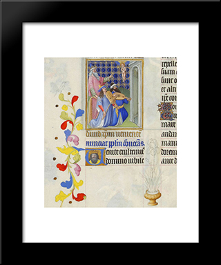 David Foresee The Coming Of Christ: Modern Black Framed Art Print by Limbourg brothers