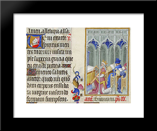 David Plays The Harp: Modern Black Framed Art Print by Limbourg brothers