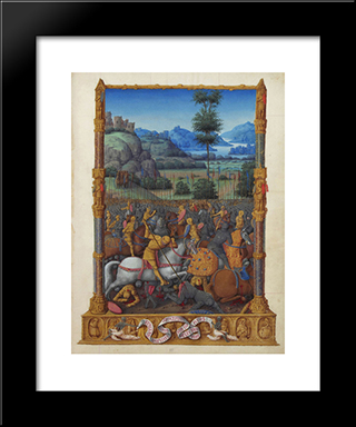 David'S Victory: Modern Black Framed Art Print by Limbourg brothers