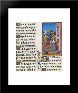 De Profundis: Modern Black Framed Art Print by Limbourg brothers