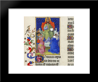 God Reigns Over All The Earth: Modern Black Framed Art Print by Limbourg brothers