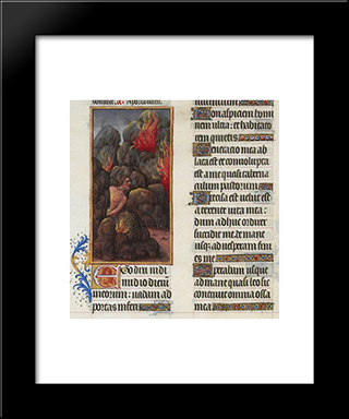 Hezekiah'S Canticle: Modern Black Framed Art Print by Limbourg brothers