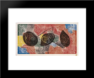 Abstraction: Modern Black Framed Art Print by Louis Schanker
