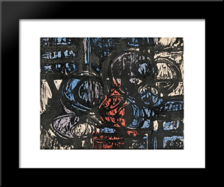 Circle Image No. 25: Modern Black Framed Art Print by Louis Schanker