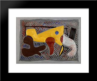 Untitled: Modern Black Framed Art Print by Louis Schanker