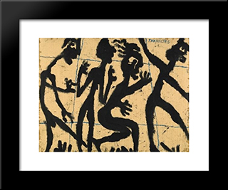Fakiristes: Modern Black Framed Art Print by Louis Soutter