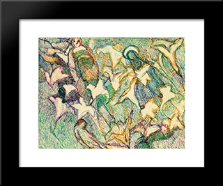 Les Lys Et Les Vierges Folles: Modern Black Framed Art Print by Louis Soutter