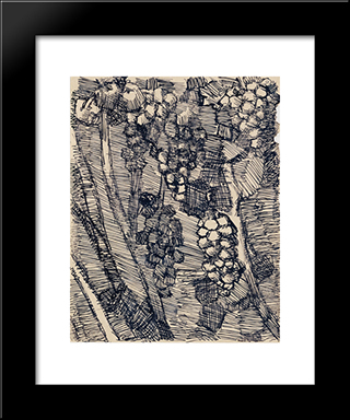 Les Raisins: Modern Black Framed Art Print by Louis Soutter