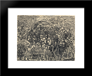 Sureau En Fleurs: Modern Black Framed Art Print by Louis Soutter