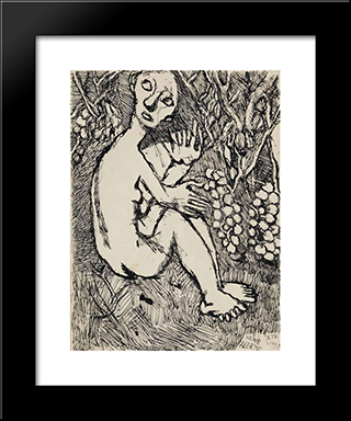 Vaine Alerte, Ete: Modern Black Framed Art Print by Louis Soutter