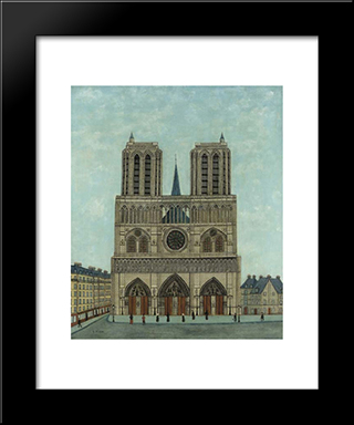 Cathedrale De Notre Dame: Modern Black Framed Art Print by Louis Vivin