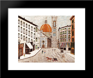 Florence: Modern Black Framed Art Print by Louis Vivin