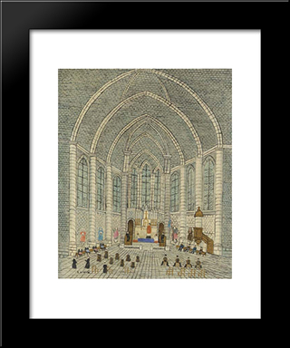 Interieur D'Eglise: Modern Black Framed Art Print by Louis Vivin