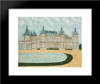 Le Chateau De Saint-Germain: Modern Black Framed Art Print by Louis Vivin