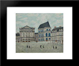 Le Chateau De Versailles: Modern Black Framed Art Print by Louis Vivin