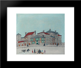 Le Peintre A Montmartre: Modern Black Framed Art Print by Louis Vivin