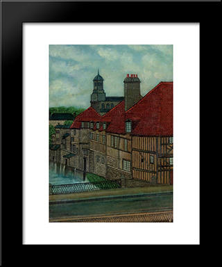 L'Eglise St. Desir: Modern Black Framed Art Print by Louis Vivin