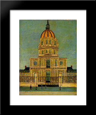 Les Invalides: Modern Black Framed Art Print by Louis Vivin