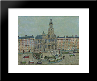 Paris, L'Eglise De La Trinite: Modern Black Framed Art Print by Louis Vivin