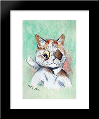 Been Through The Wars: Custom Black Or Gold Ornate Gallery Style Framed Art Print by Louis Wain