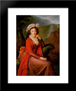 Countess Bucquoi: Modern Black Framed Art Print by Louise Elisabeth Vigee Le Brun