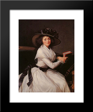 Countess Of Chatre: Modern Black Framed Art Print by Louise Elisabeth Vigee Le Brun