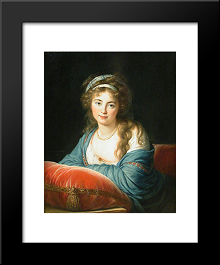 Countess Skavronskaia: Modern Black Framed Art Print by Louise Elisabeth Vigee Le Brun