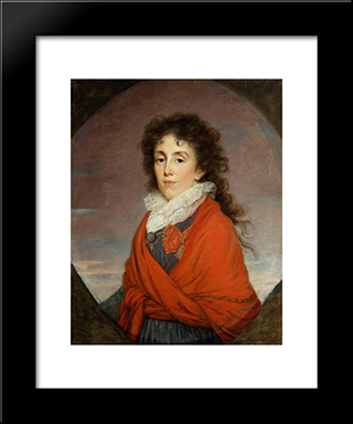 Ekaterina I. Kutuzova, Wife Of Russian Field Marshal M.I. Kutuzov: Modern Black Framed Art Print by Louise Elisabeth Vigee Le Brun