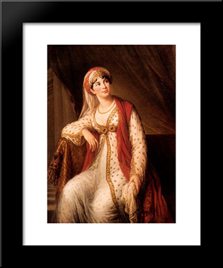 Giuseppina Grassini In The Role Of Zaire: Modern Black Framed Art Print by Louise Elisabeth Vigee Le Brun