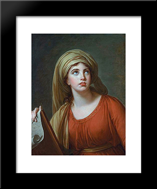 Lady Hamilton As The Persian Sibyl: Modern Black Framed Art Print by Louise Elisabeth Vigee Le Brun