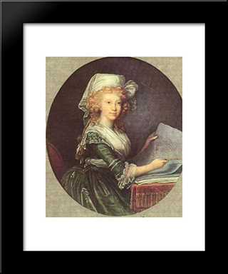 Maria Luisa Of Spain, Wife Of Emperor Leopold Ii: Modern Black Framed Art Print by Louise Elisabeth Vigee Le Brun