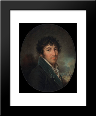Moritz Von Fries: Modern Black Framed Art Print by Louise Elisabeth Vigee Le Brun