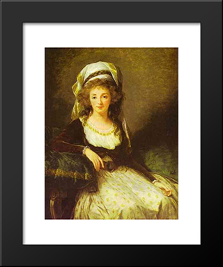 Portrait Of A Lady: Modern Black Framed Art Print by Louise Elisabeth Vigee Le Brun