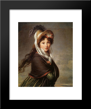 Portrait Of A Young Woman: Modern Black Framed Art Print by Louise Elisabeth Vigee Le Brun