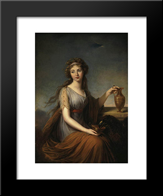 Portrait Of Anna Pitt As Hebe: Modern Black Framed Art Print by Louise Elisabeth Vigee Le Brun