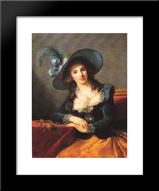 Portrait Of Antoinette Elisabeth Marie D'Aguesseau, Countess Of Segur: Modern Black Framed Art Print by Louise Elisabeth Vigee Le Brun