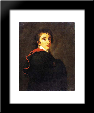 Portrait Of Count Pavel Shuvalov: Modern Black Framed Art Print by Louise Elisabeth Vigee Le Brun