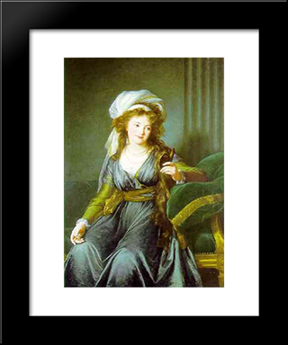 Portrait Of Countess Catherine Skavronskaya: Modern Black Framed Art Print by Louise Elisabeth Vigee Le Brun