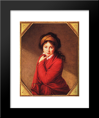 Portrait Of Countess Golovine: Modern Black Framed Art Print by Louise Elisabeth Vigee Le Brun
