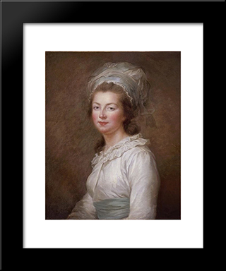 Portrait Of Elisabeth Of France: Modern Black Framed Art Print by Louise Elisabeth Vigee Le Brun