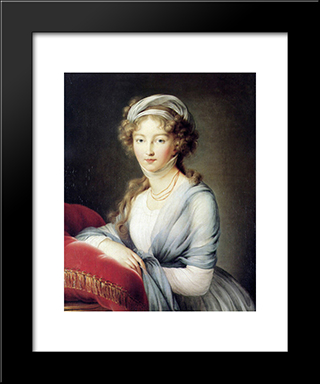 Portrait Of Empress Elisabeth Alexeievna Of Russia: Modern Black Framed Art Print by Louise Elisabeth Vigee Le Brun