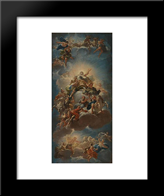 Apotheosis Of The Medici: Modern Black Framed Art Print by Luca Giordano