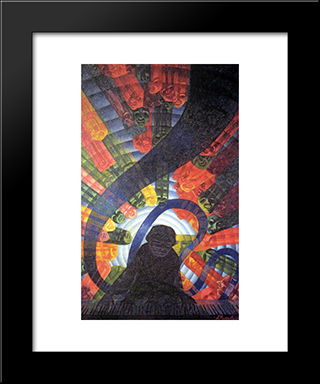 Music: Modern Black Framed Art Print by Luigi Russolo