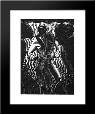 Alec Waugh'S Hot Countries: Modern Black Framed Art Print by Lynd Ward
