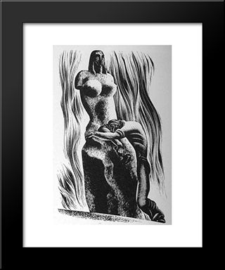 Prelude To A Million Years: Modern Black Framed Art Print by Lynd Ward