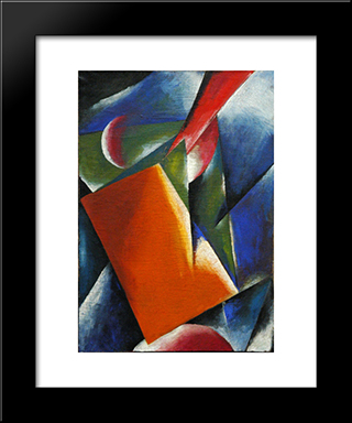 Architectonic Painting: Modern Black Framed Art Print by Lyubov Popova
