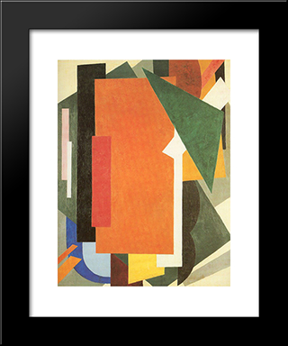 Architectonics In Painting: Modern Black Framed Art Print by Lyubov Popova