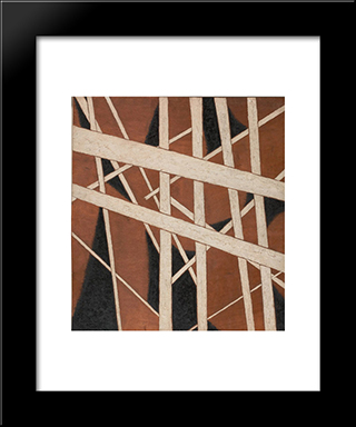 Building The Revolution. Soviet Art And Architecture: Modern Black Framed Art Print by Lyubov Popova