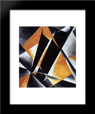 Dramatic Architecture: Modern Black Framed Art Print by Lyubov Popova